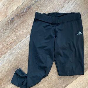 Adidas Black Crop Workout Active Pants Leggings M